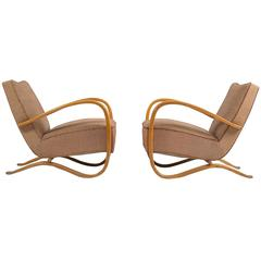 Pair of Lounge Chairs by Jindrich Halabala