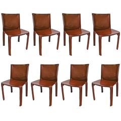 Set of Eight 'CAB' Chairs by Mario Bellini for Cassina