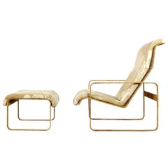 1970s Lounge Chair with Wicker by Kill International