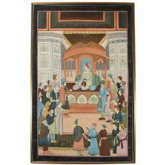 Mughal Indian Silk Painting