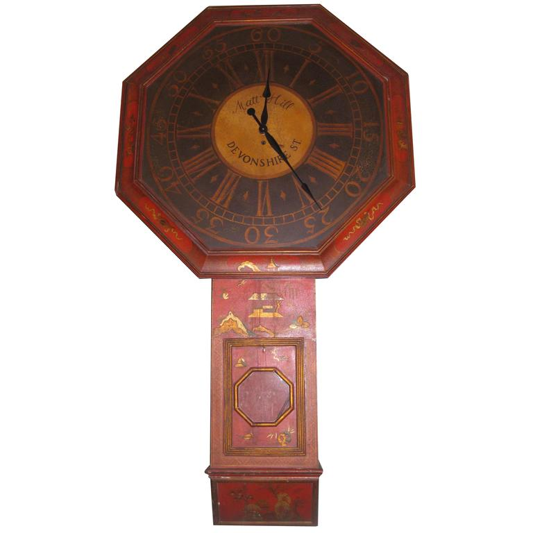 vintage trompe l 39 oeil chinoiserie clock from mcmillan and co for sale at 1stdibs. Black Bedroom Furniture Sets. Home Design Ideas