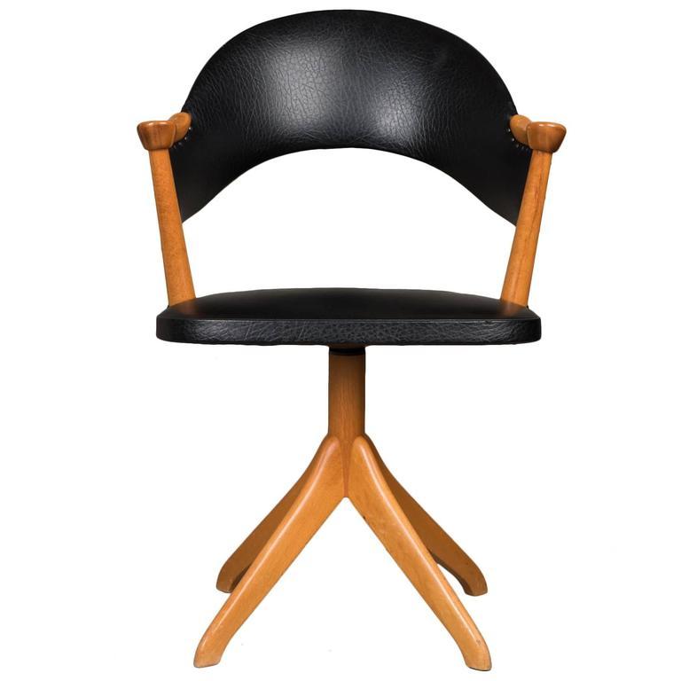 Vintage Swivel Desk Chair Sweden at 1stdibs