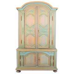 French Provincial Armoire - Hand-Carved & Hand-Painted
