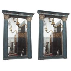 Pair of 18th Century Portuguese Column Mirrors