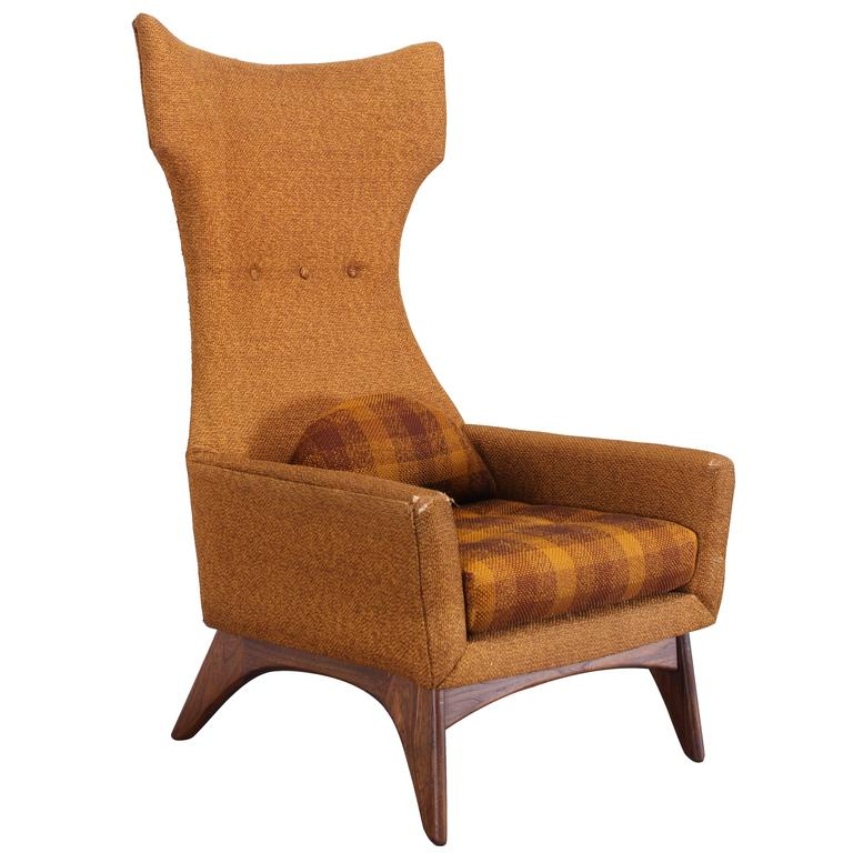 Adrian pearsall style wing chair 1960 at 1stdibs for Sixties style chairs