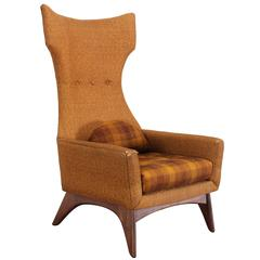 Adrian Pearsall Style Wing Chair, 1960