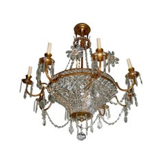 French Gilt Crystal Chandelier