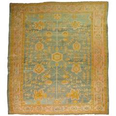 Antique Turkish Oushak Oriental Rug
