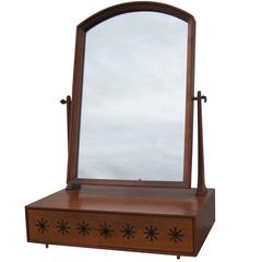 Walnut Tabletop Vanity Mirror by Kipp Stewart for Directional