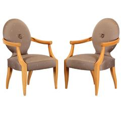 """Pair of """"Casper"""" Armchairs by Donghia, 1980"""