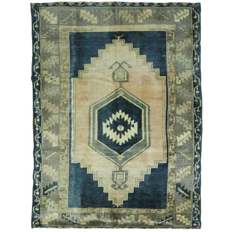 Emerald Green Turkish Oushak Rug 1