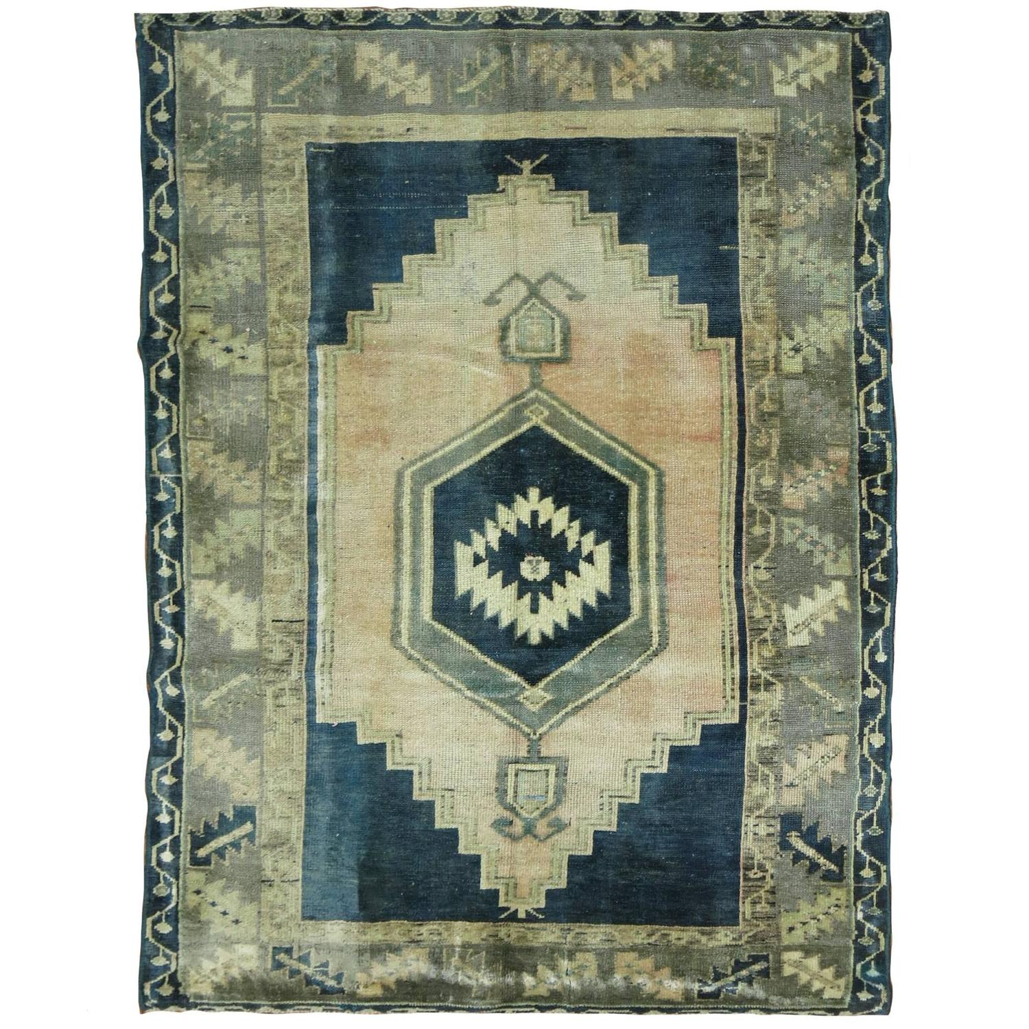Emerald Green Turkish Oushak Rug For Sale At 1stdibs