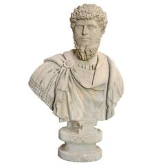 Stone Assumed Bust of Lucius Aurelius Verus, 19th Century