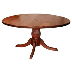 Round Reproduction Pine or Oak Table, from Reclaimed Wood