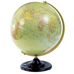 Art Deco Swedish Globe by Philips Jordglob on Bakerlite Stand