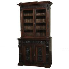 19th Century Dutch Renaissance Revival Bookcase with Angels, Putti