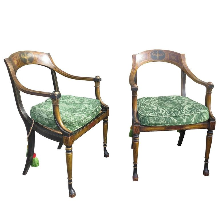 Pair of 19th Century Regency Chairs