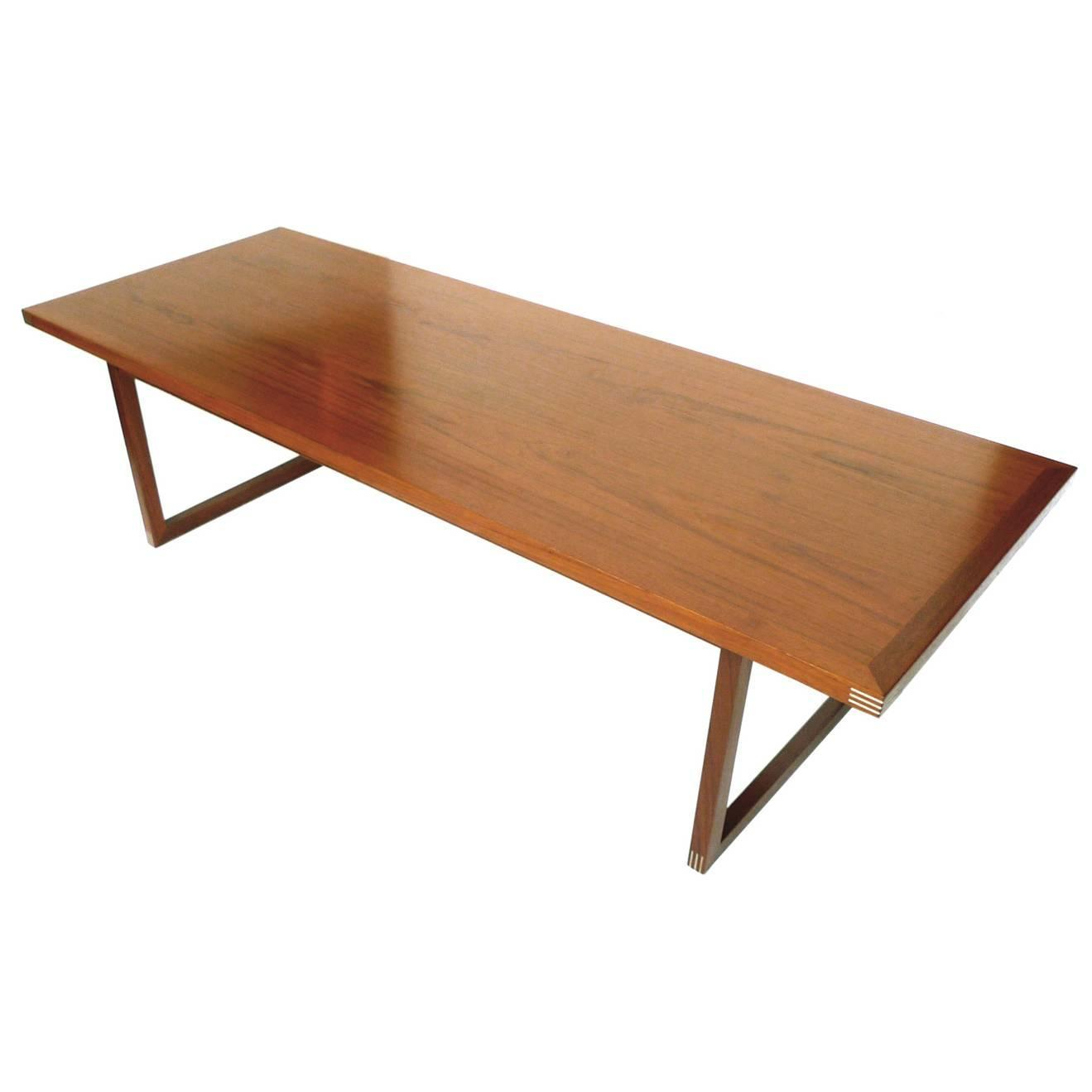 Midcentury Danish Teak Coffee Table By Rud Thygesen For Heltborg