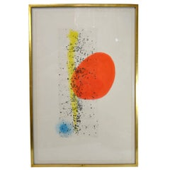 """Soleil Et Vent"" Etching and Aquatint by Joan Miro, circa 1893-1983; #44/75"