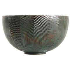 Fluted Bowl in Bronze Deigned by Axel Salto