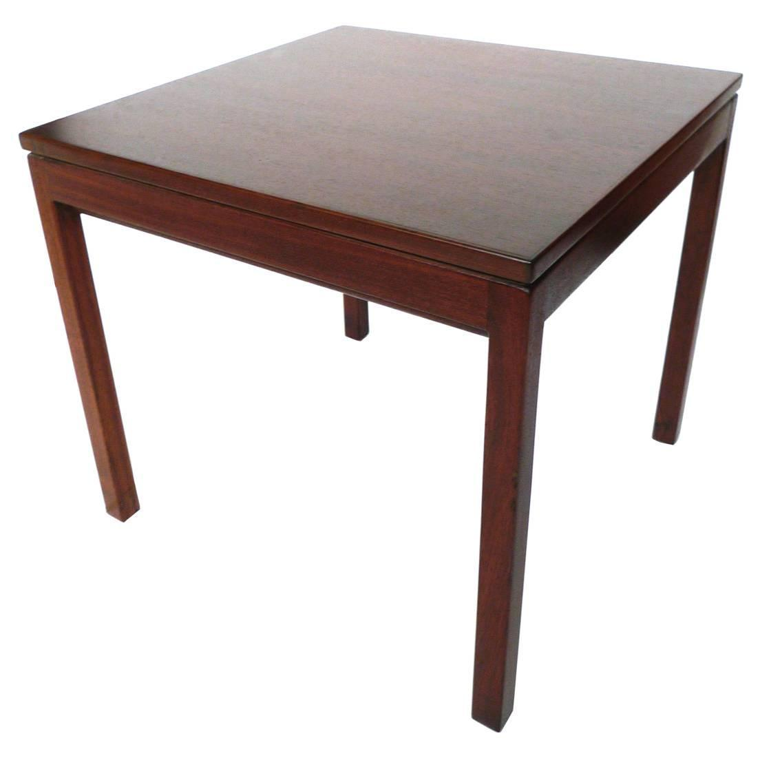 Danish Modern Walnut Side Table By Jens Risom At 1stdibs