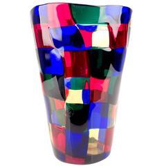 Murano Glass Pezzato Vase by Fulvio Bianconi for Venini