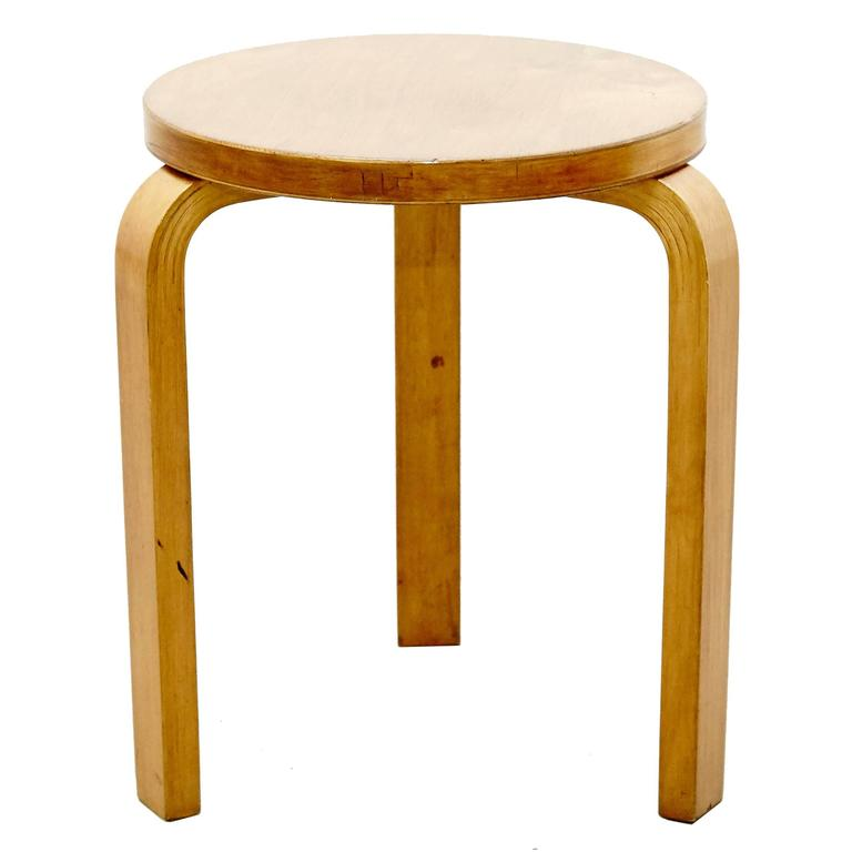 Alvar Aalto First Edition Wood Stool for Finmar, circa 1930 For Sale