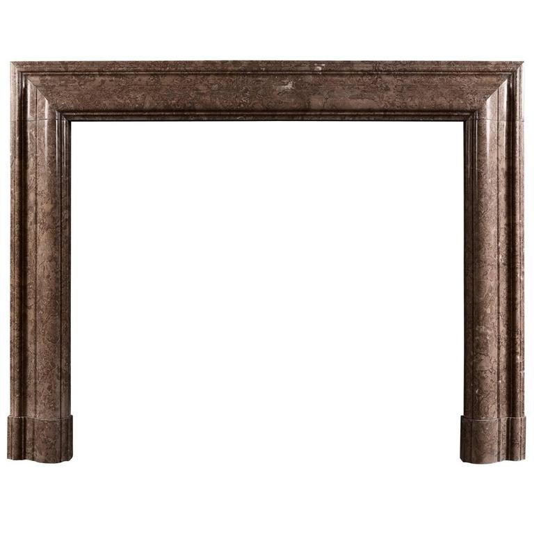Bolection Fireplace Mantel in Napoleon Brown or Beige Marble
