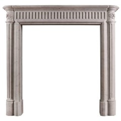 Unusually Tall French Marble Antique Fireplace Mantel