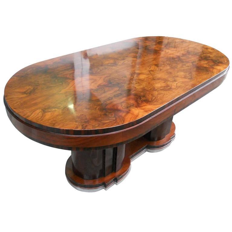 Italian Dining Table1940s Art Deco By Premiato Stabilimento Di Mobili Busnell For
