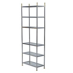 Neoclassic Chrome and Glass Etagere
