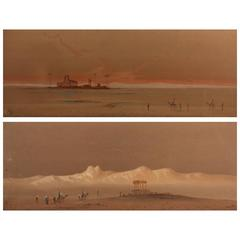 Pair of Orientalist Paintings, Egyptian Desert Scenes by H. S. Lynton