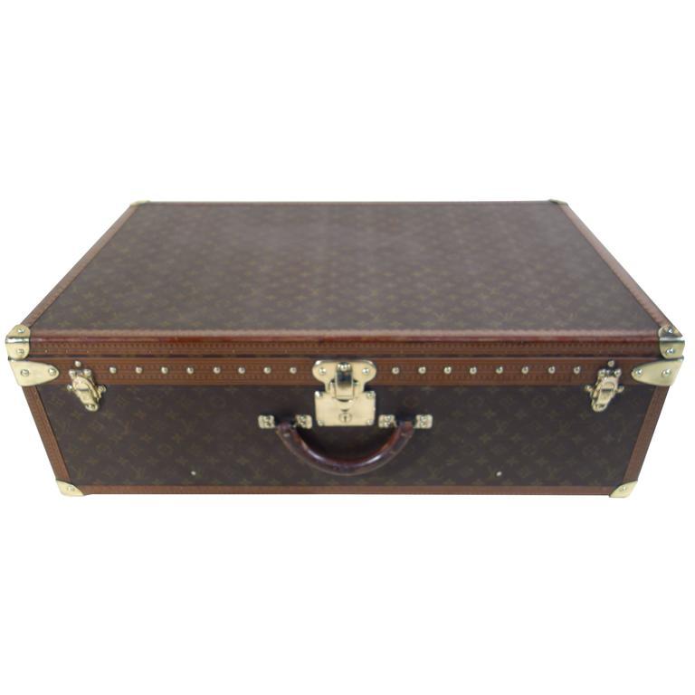Elegant 1980s Alzer Suitcase, Louis Vuitton 80 1