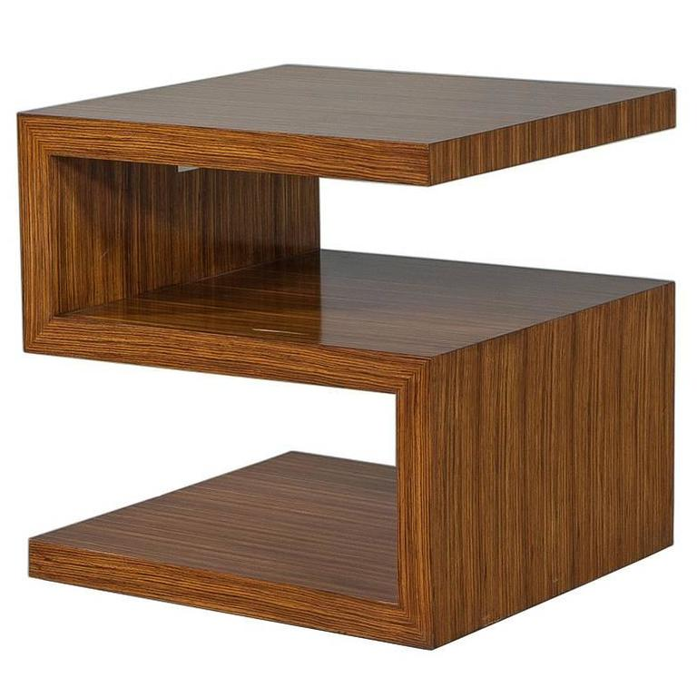 EJ Victor Zebrawood End Table by Allison Paladino at 1stdibs