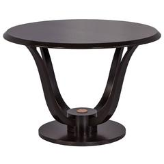 French Art Deco Round Rosewood Occasional Table