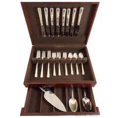 Courtship by International Sterling Silver Flatware Set 8 Service Luncheon 35 Pc