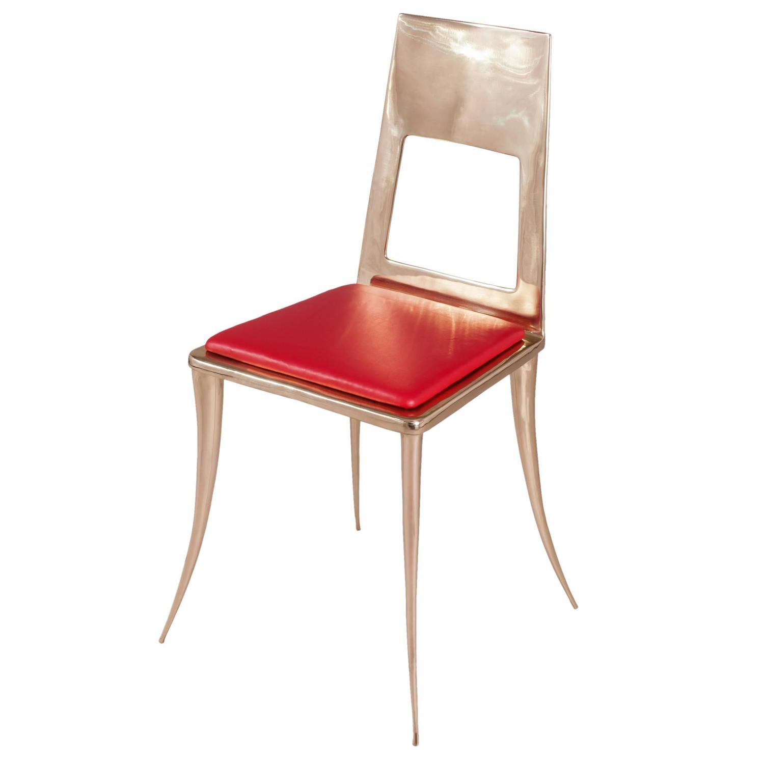 Bronze Klismos Chair by Nick King For Sale at 1stdibs