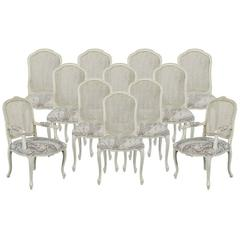 Set of 12 Louis Quinze Custom Dining Chairs