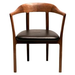 1958 Armchair in Brazilian Rosewood and Original Leather by Ole Wanscher