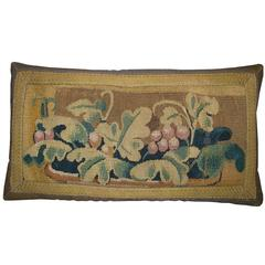 17th Century Antique Flemish Tapestry Pillow