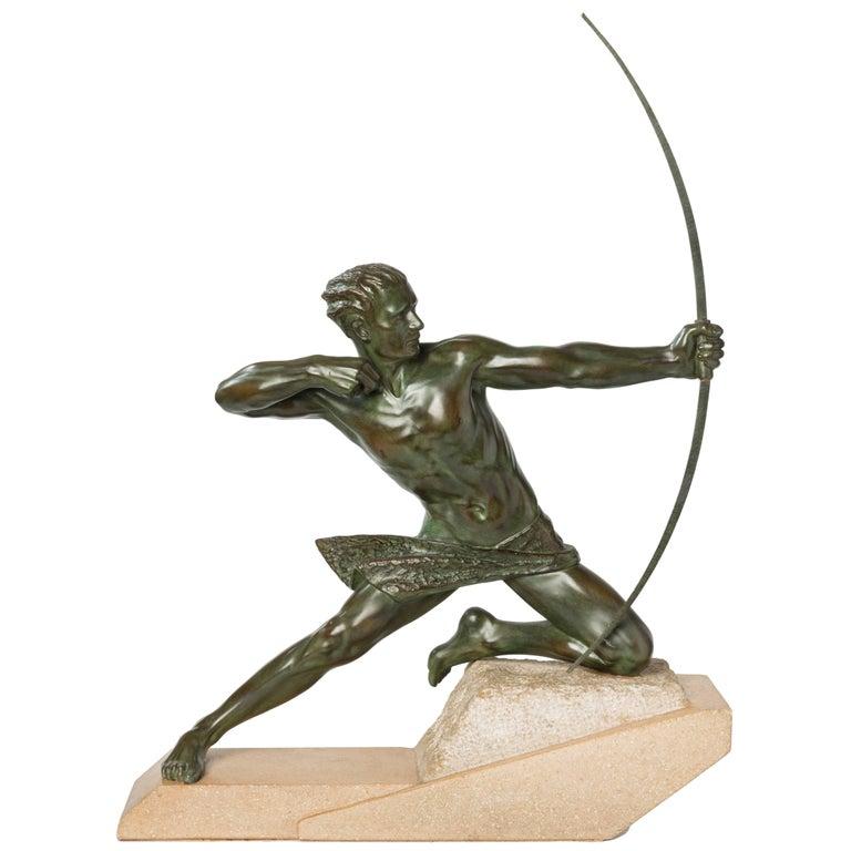 "Max Le Verrier  Bronze ""Spartiate"" ( An Archer ) For Sale"