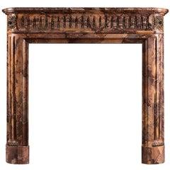 Petite Louis XVI Style Marble Fireplace Mantel