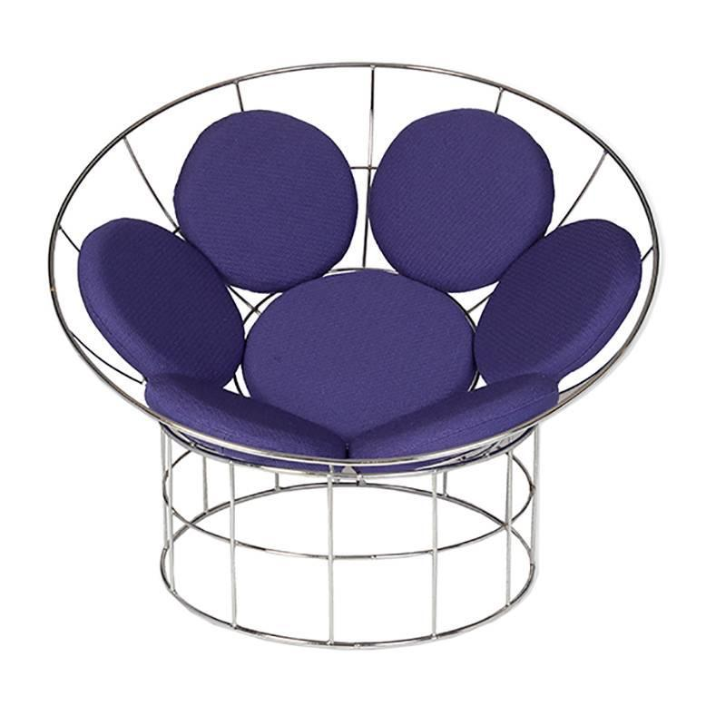 verner panton peacock chair for sale at 1stdibs. Black Bedroom Furniture Sets. Home Design Ideas
