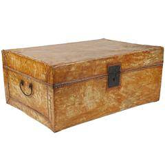 Camphor Wood and Pig Skin Covered Trunk from the Estate of Bunny Mellon