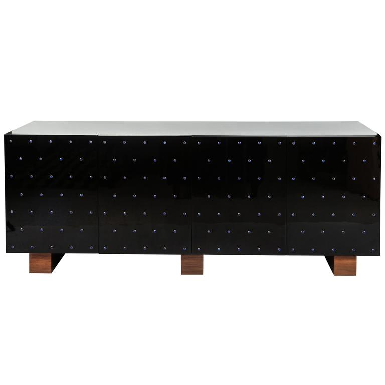 Lapis Studded Trousdale Credenza by Dragonette Private Label