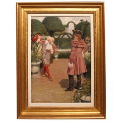 """""""A Courtly Meeting"""" Oil Painting by Simon Vedder"""