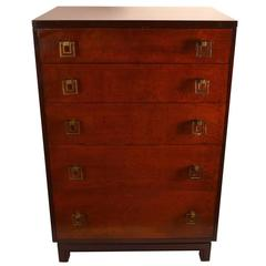 Pair of Renzo Rutili for John Stuart Five-Drawer Chests