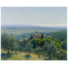 The Hilltop Village of Scrofiano in Tuscany