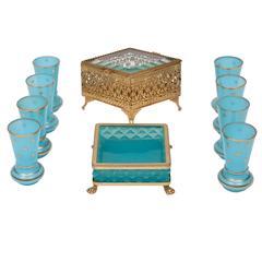 Murano Glassware and Smoking Set