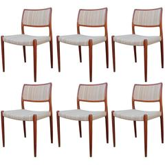 Set of Six Niels Moller for Jl Moller Dining Chairs